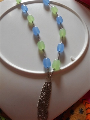 Blue Green Necklace-100157