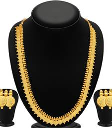 Buy Royal Gold Plated Temple Jewellery Necklace Set necklace-set online