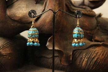 Inlay jhumki Earrings