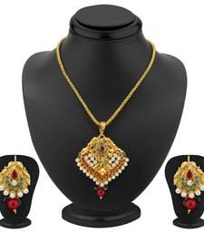 Buy Angelic Gold Plated Pendant Set Pendant online