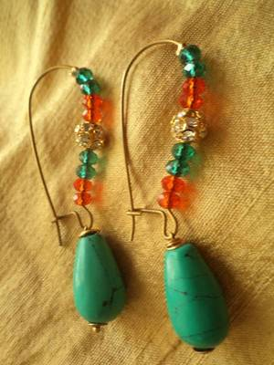 Red Green Earrings -Aliff Lailaa-02028