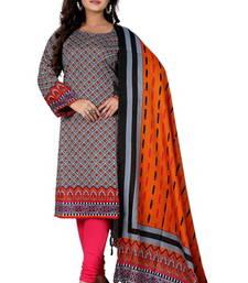 Buy grey color cottan kurti with duppata kurtas-and-kurtis online