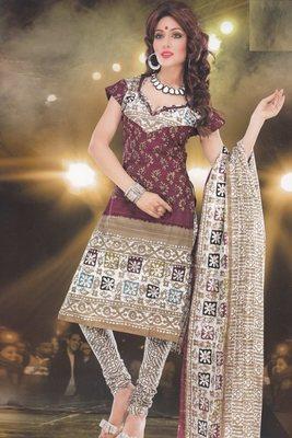 Elegant designer Lawn coton unstitched dress material D.No. BC4013