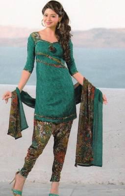 Dress material crepe unstitched patiala salwar kameez suit d.no 6171
