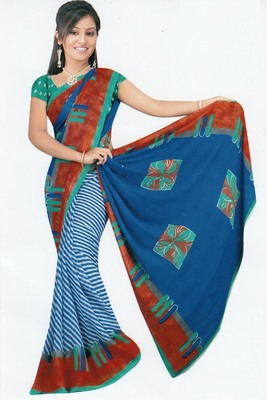 Sarees faux chiffon elegant designer piece with blouse piece d.no A7039