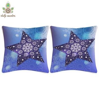 Blue Star Digital Print Cushion Covers