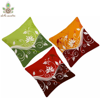 Flower Abstract Digital Print Cushion Covers