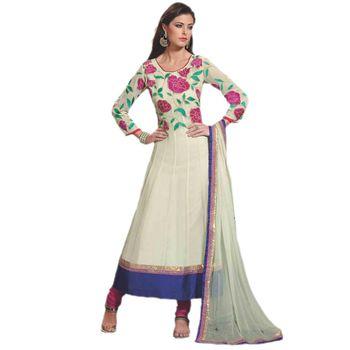 Sahiba Pure Georgette Sea Green Color Designer Dress Material Anar3703