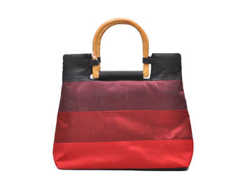 Black and red tote