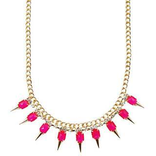 Pink Spike Necklace