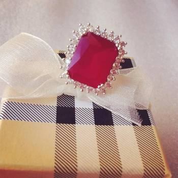 Ruby Red Square Ring