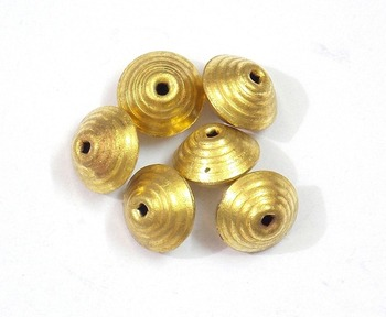 Golden hollow round beads jewelry making