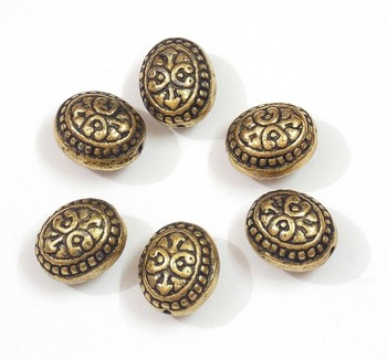 oval golden bead jewelry making