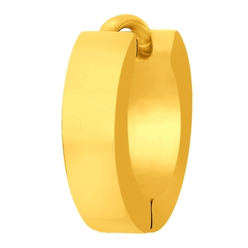 Stainless Steel Luxe Gold Hoop for Men