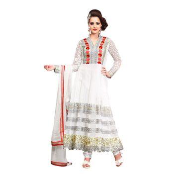 Hypnotex Net Off White Color Designer Dress Material Look17002