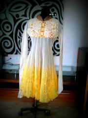 kurti in yellow