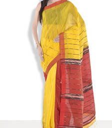 Buy Red hand_woven handloom saree with blouse handloom-saree online