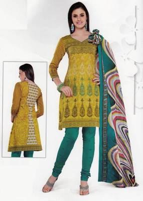 Cotton Dress Material Elegant Designer Unstitched Salwar Suit D.No 3509
