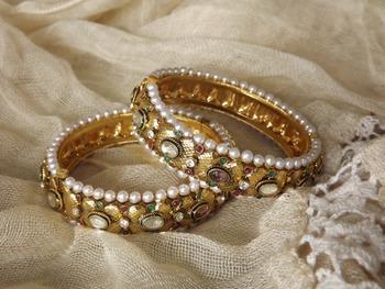 Kangans in Antique Gold