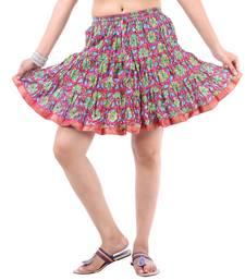 Buy Rajasthani Beautiful Designer Printed Mini Skirt mini-skirt online