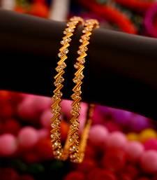 Buy White stone bangles  bangles-and-bracelet online