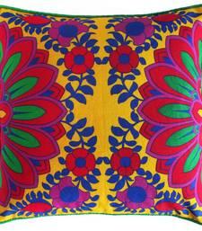 Buy Splendid Red Flower Cushion Cover pillow-cover online