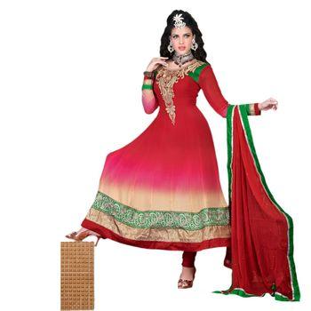 Hypnotex Georgette Red Color Designer Dress Material Krishna2001