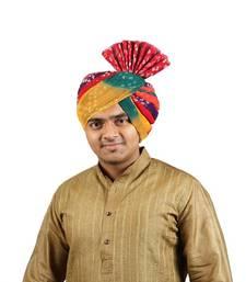 Buy eKolhapuri Panchrangi Jodhpuri Bandhej Cotton Pheta (Turban) turban online