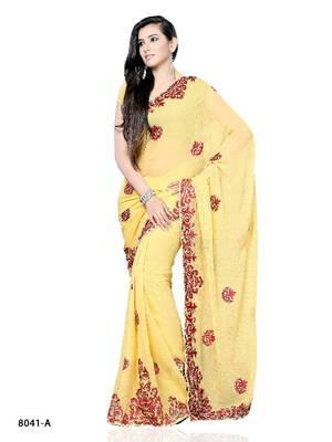 Circean Designer Saree made from Chiffon by DIVA FASHION-Surat