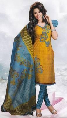 Cotton Dress Material Elegant Designer Unstitched Salwar Suit D.No 8412