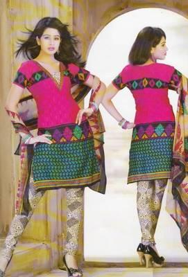 Dress Material Crepe Designer Printed Unstitched Salwar Kameez suit D.No. Z3003