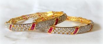 FINE CZ GOLD PLATED bangle