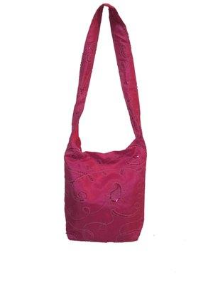 silk embroidery hand bag