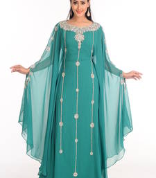 Buy Green arabian islamic kaftan crystal-abaya online