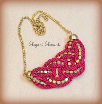 BEST DEAL - Pink resham dori and golden beads necklace
