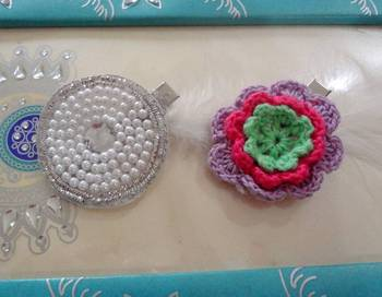 pearl and crochet hairpin