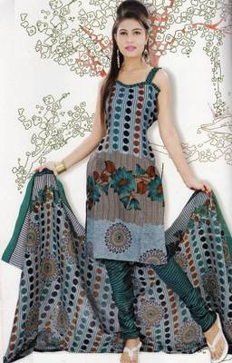 Elegant Dress Material Jute Cotton Designer Prints Unstitched Salwar Kameez Suit D.No 6213
