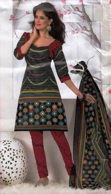 Elegant Dress Material Cotton Designer Prints Unstitched Salwar Kameez Suit D.No BN7029