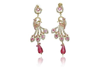 Indian Handmade victorian bollywood fashion earrings