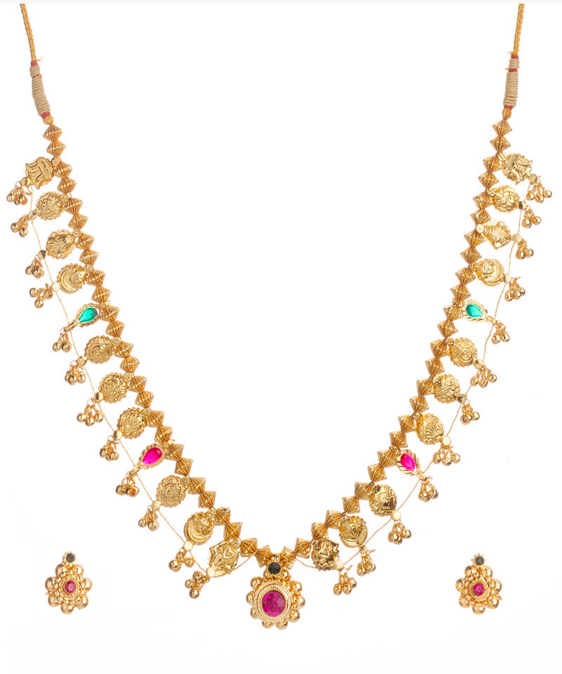 Buy Kolhapuri Saaj 24k Gold Plated Alloy Necklace And