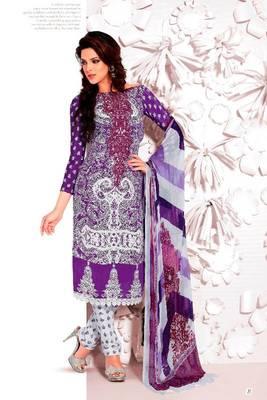 Elegant Aesthetic Karachi Heavy Embroidery Crepe Salwar Kameez 5409B