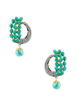 Turquoise Blue Antique Victorian Dangle and Drop Earrings Jewellery for Women - Orniza