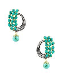 Buy Turquoise Blue Antique Victorian Dangle and Drop Earrings Jewellery for Women - Orniza danglers-drop online