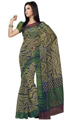 Triveni Multi Super Net Bollywood Printed Saree TSSA957b