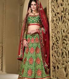 Buy Weding Special  Special Green Heavy Silk Lehenga Green Heavy Silk With Work Choli lehenga-choli online
