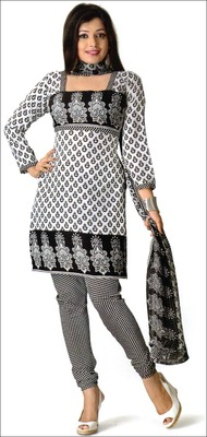 Designer printed synthetic dress material - AG41R32SY
