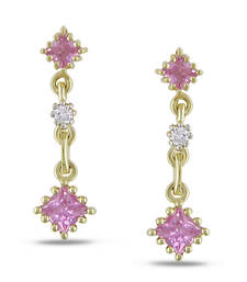 Buy Swarovski Elements Yellow Gold Plated Earring stud online