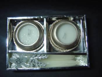 Silver Matki Candles gift pack