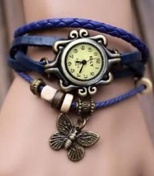 Buy LS Designer Bracelet Watch-Blue fashion-deal online