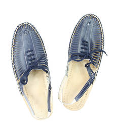 Buy eKolhapuri Blue Color Kolhapuri Half Bantu For Men loafers-shoe online